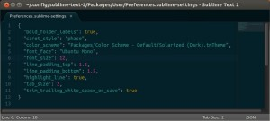 Editing Sublime Text settings is a cinch.