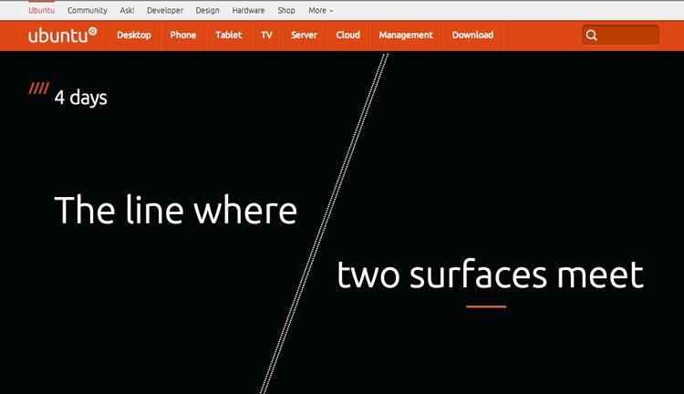 Ubuntu Website - July 18th