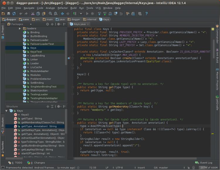 A Java project in IntelliJ IDEA Community Edition with the 'Darcula' theme
