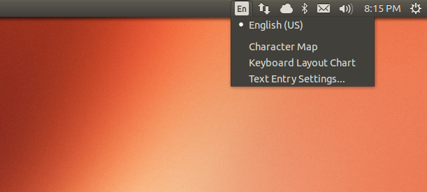keyboard applet in ubuntu 13.10