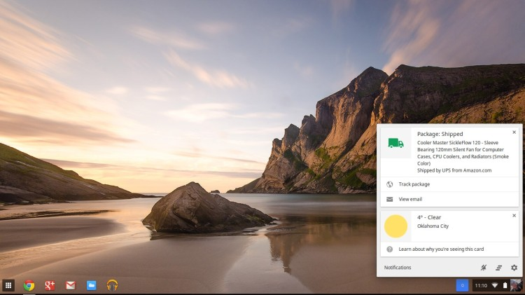 google now cards in Chrome OS