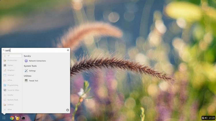 Budgie desktop environment