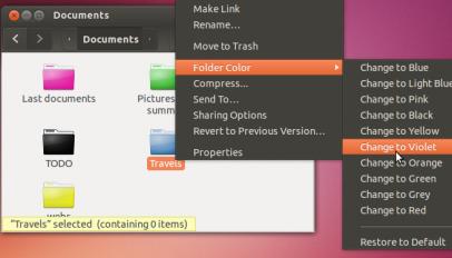 change folder icon color in nautilus