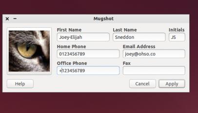 The MugShot Application in Xubuntu