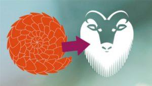 Ubuntu pangolin and tahr logos
