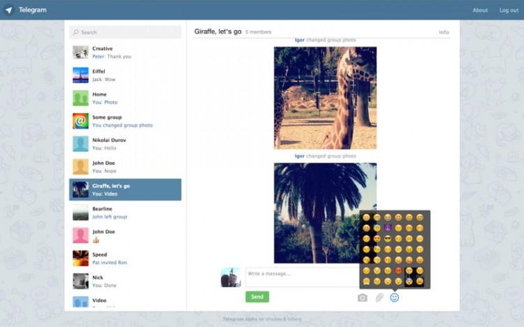 Web version of telegram (image: Rafael Cervera Moreno)