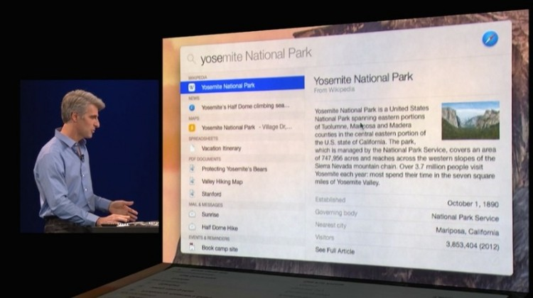 Demo of Spotlight in Yosemite (via macrumors)
