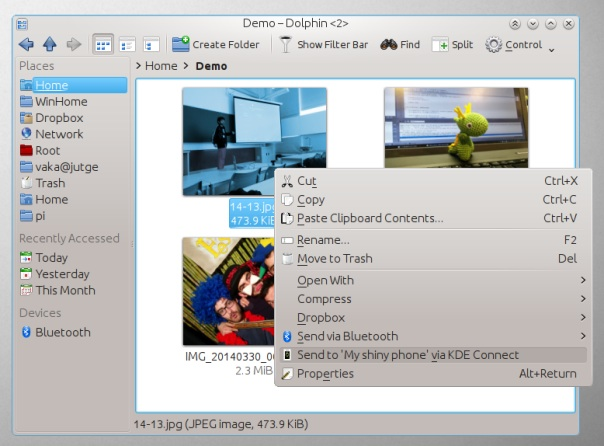 KDE Connect can now share files between desktop and mobile