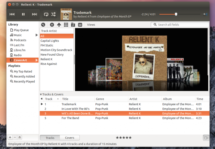 Retro: Coverflow browsing also available