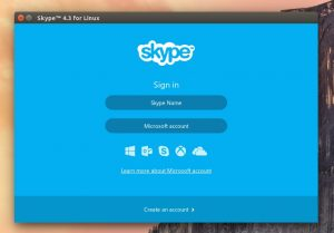 skype new login screen linux
