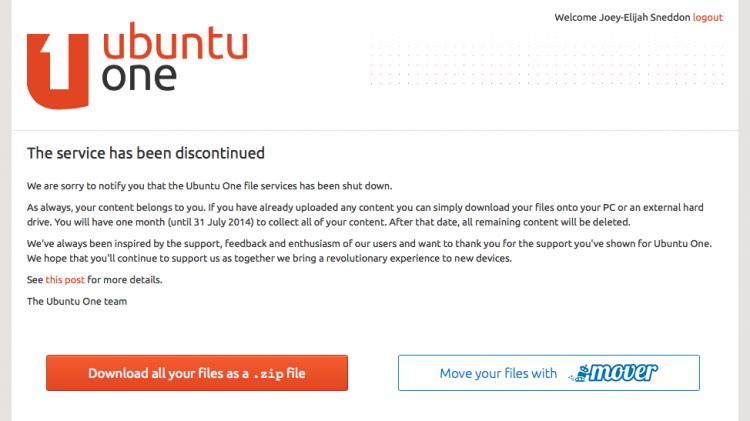 ubuntu one not