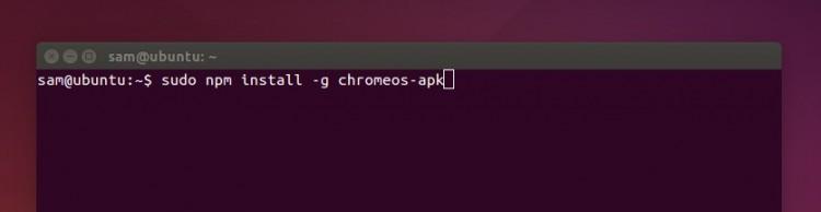 chromeos-apk-npm