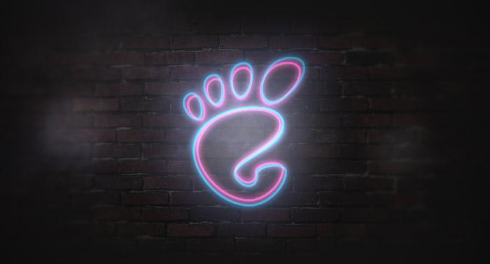 GNOME neon logo