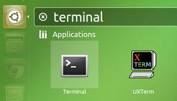 terminal icon in unity dash