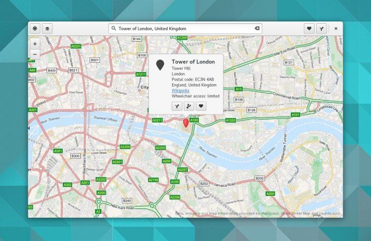 gnome 3.16 maps app