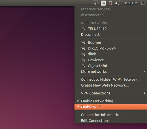ubuntu-network menu