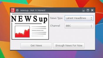 newsup app window