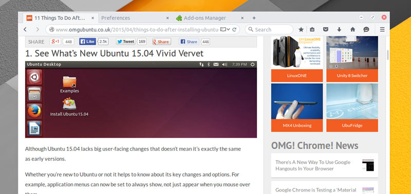 An Official Arc Theme For Firefox Is Now Available