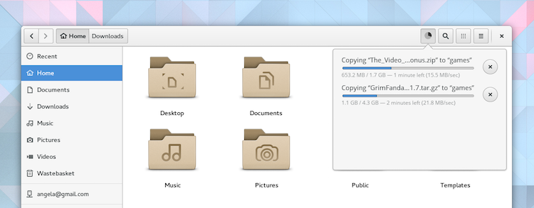 gnome file transfers