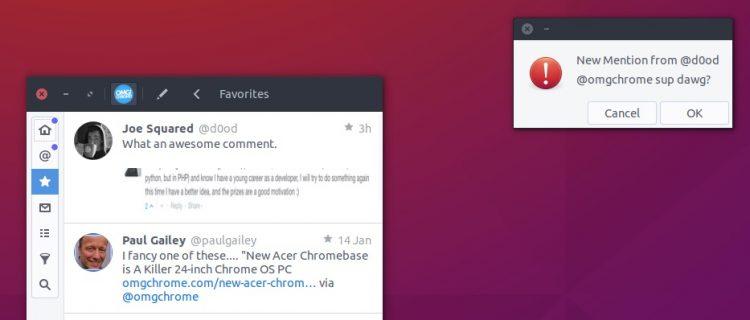 corebird notifications