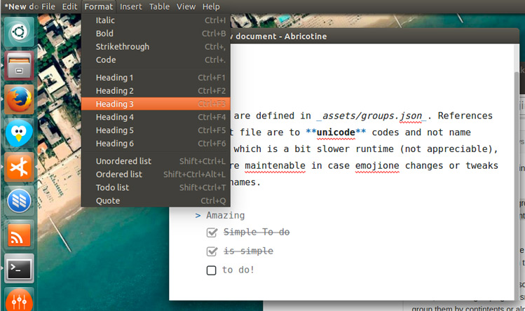 abricotine-markdown-editor-on-linux
