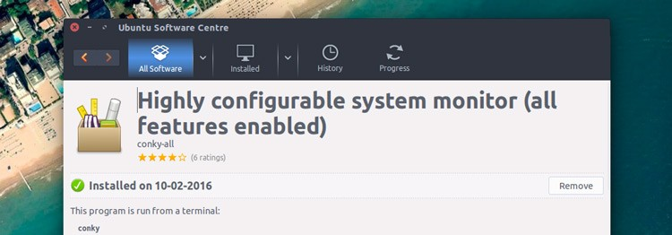 conky-all package on ubuntu software center