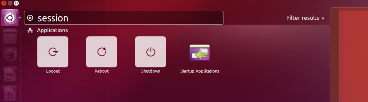 session shortcuts in ubuntu unity 7.4
