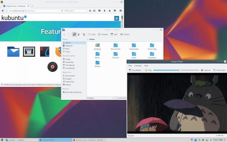 Kubuntu 16.04 LTS desktop