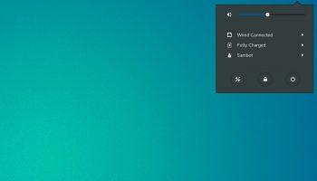 GNOME system menu