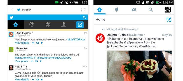 Ubuntu phone twitter apps