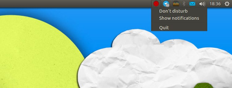 disable ubuntu notifications indicator