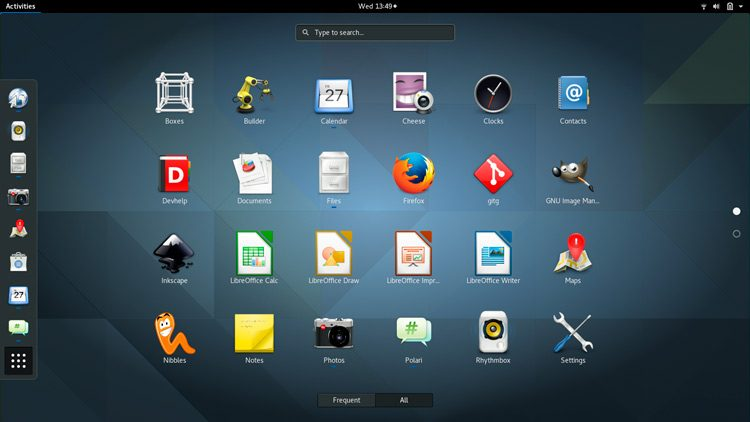 GNOME 3.20 is included