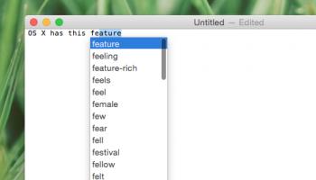 Autocomplete on macOS