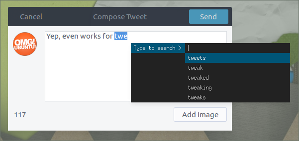 text suggest for tweets