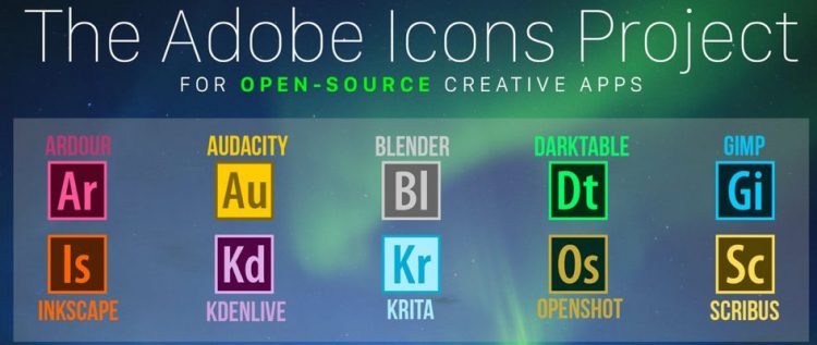 adobe icons for linux apps