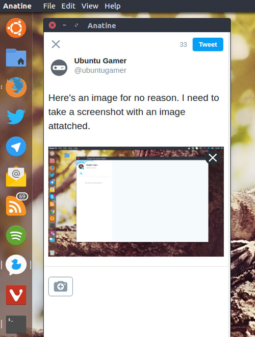 anatine twitter app on linux
