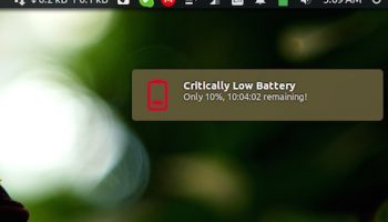 battery notification on ubuntu