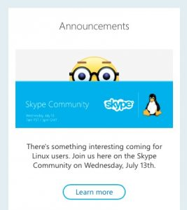 skype linux exciting announcement