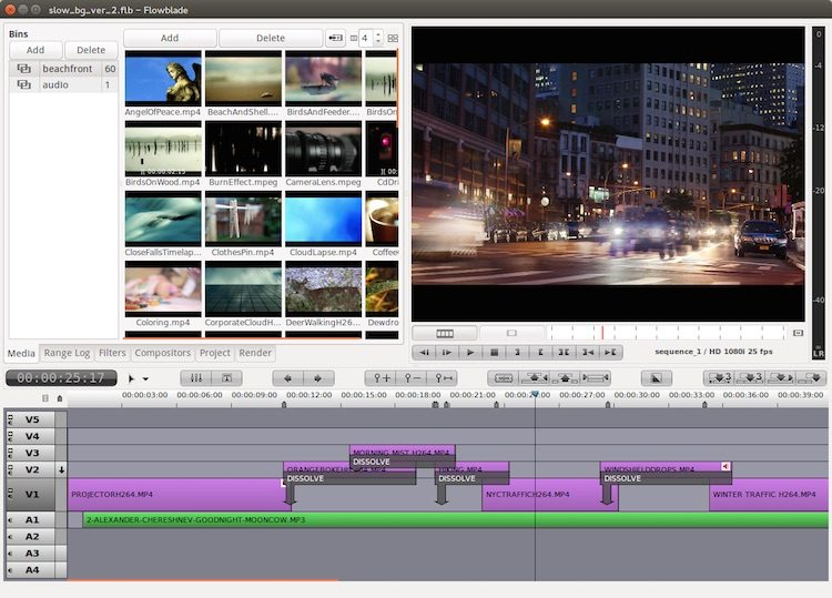 flow blade video editor on linux