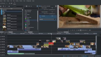 the kdenlive non-linear video editor