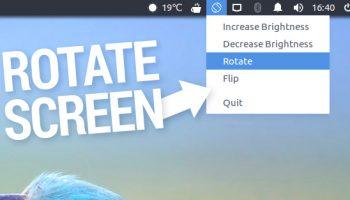 rotate screen indicator applet