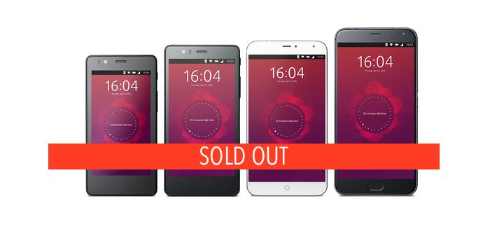 ubuntu phones sold out