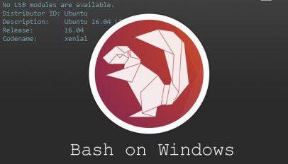ubuntu 16.04 bash upgrade for windows 10