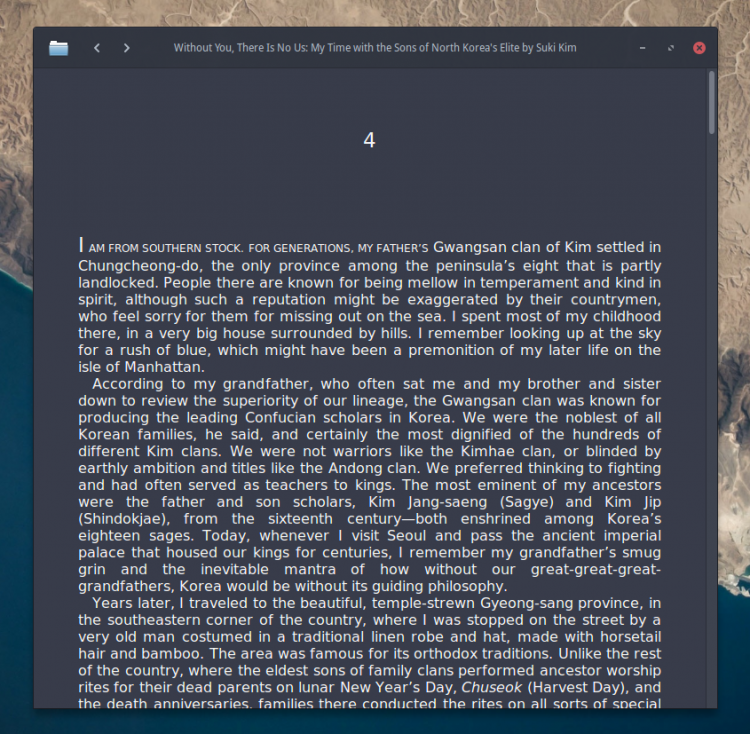 ebook viewer for Linux desktop