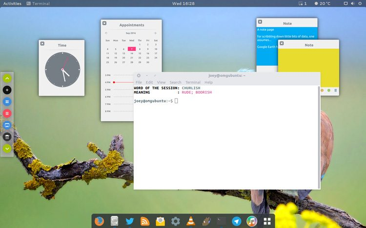 plexydesk on gnome shell