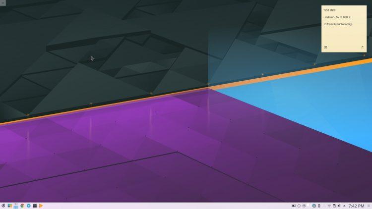 ubuntu 16.10 beta 2 desktop screenshot