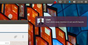 rambox notification desktop style