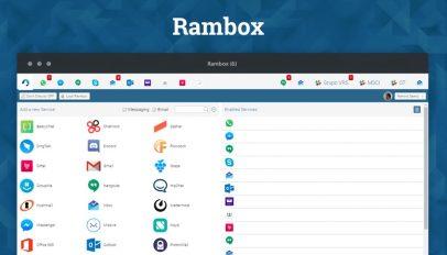 Rambox messaging app