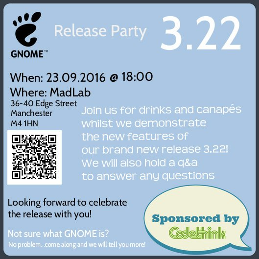 GNOME release party manchester