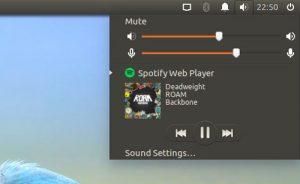 Sound Menu Integration